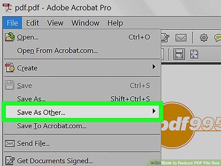 کاهش حجم pdf با استفاده از adobe acrobat3