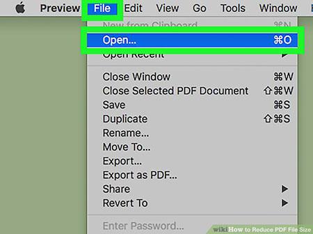 کاهش حجم pdf با استفاده از Review در سیستم عامل مک 1