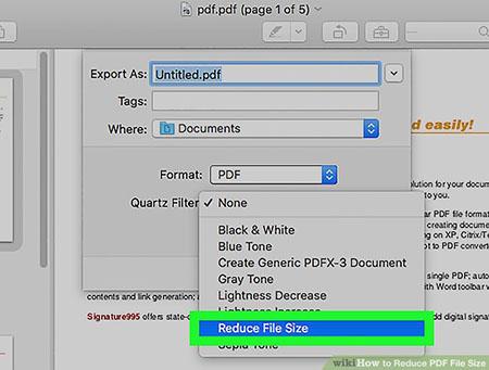 کاهش حجم pdf با استفاده از Review در سیستم عامل مک 7